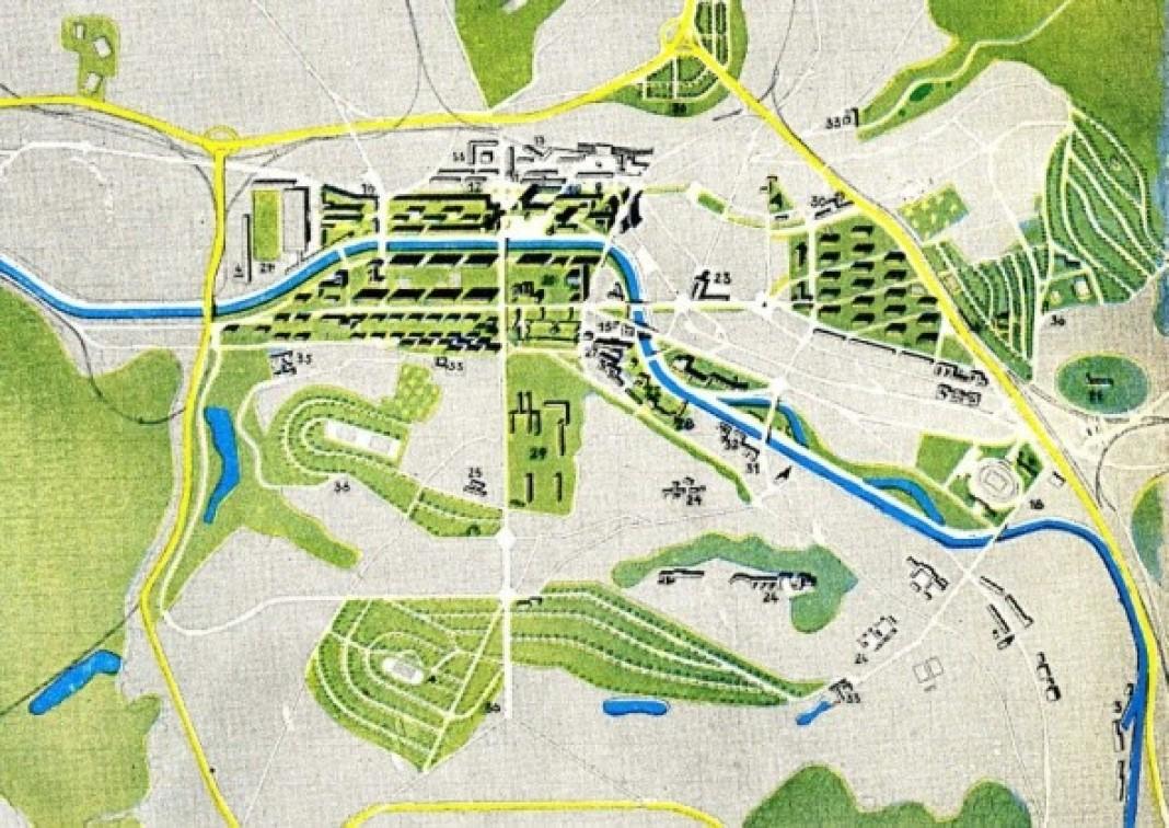 Plan d'urbanisme  de Sarrebruck 1947